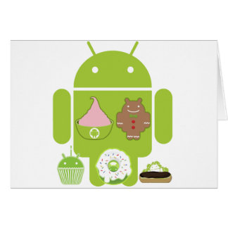 Android Versions Greeting Cards