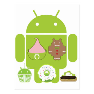 Android Versions Postcards