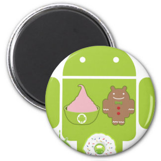Android Versions Refrigerator Magnets