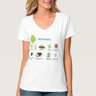Android Versions (The Story) T-Shirt