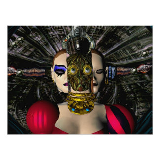 ANDROID XENIA SPACESHIP PILOT,Science Fiction Poster