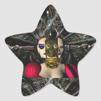 ANDROID XENIA SPACESHIP PILOT,Science Fiction Star Sticker