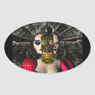 ANDROID XENIA SPACESHIP PILOT OVAL STICKERS