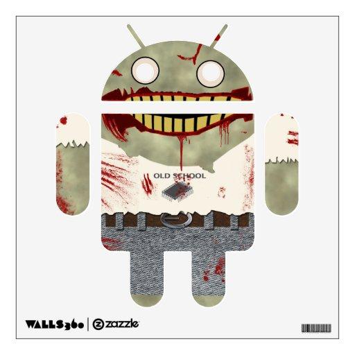Android zombie wall decor zazzle for Zombie room decor