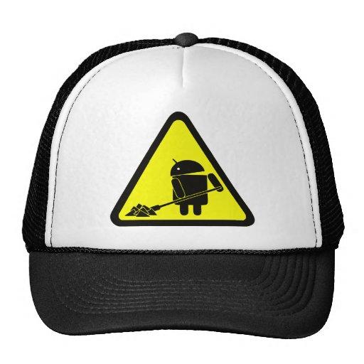Androide bajo construcción gorros