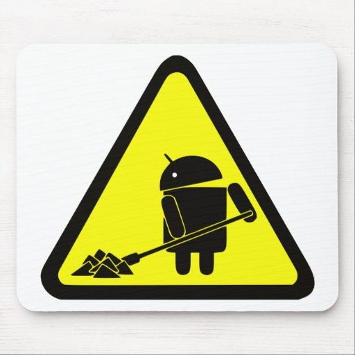 Androide bajo construcción tapete de raton