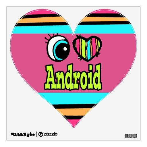 Androide brillante del amor del corazón I del ojo