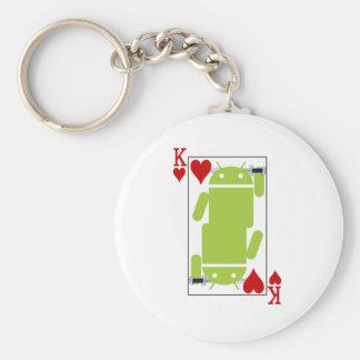 Androide de corazones llavero redondo tipo pin