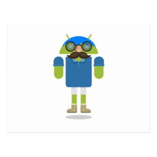 Androide de encargo tarjetas postales