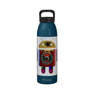 ANDROIDE de Navin Joshi Botella De Agua Reutilizable