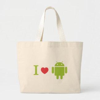 Androide del corazón I Bolsa Tela Grande