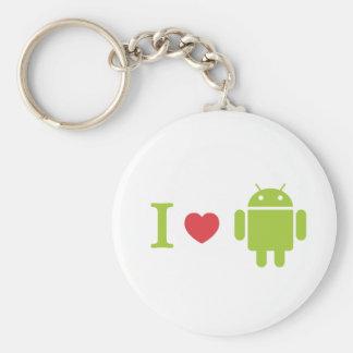 Androide del corazón I Llavero Redondo Tipo Pin