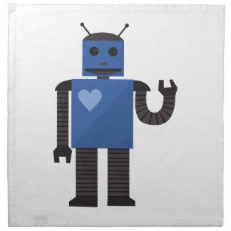 Androide del corazón servilletas imprimidas