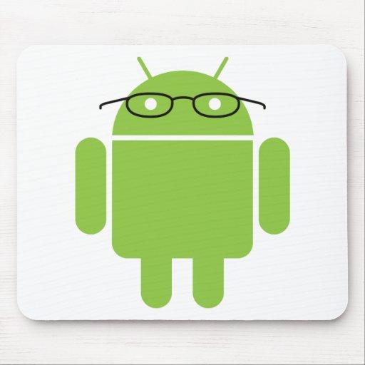 Androide del empollón alfombrillas de raton