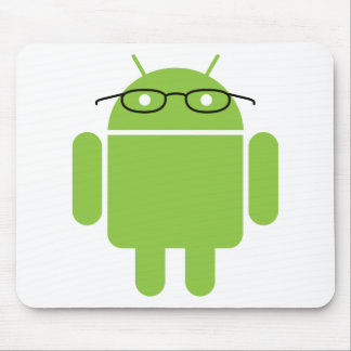 Androide del empollón alfombrillas de ratones
