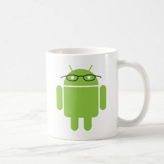 Androide del empollón taza