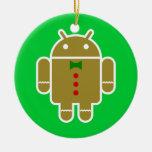 Androide del pan de jengibre adornos de navidad