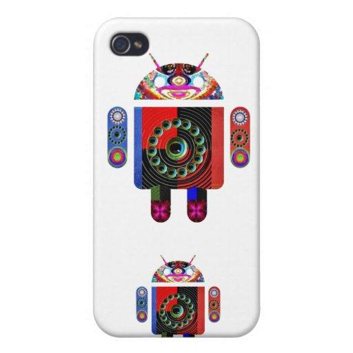 Androide del papá y del bebé - Art101 por Navin iPhone 4 Protector