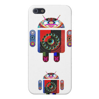 Androide del papá y del bebé - Art101 por Navin iPhone 5 Carcasa
