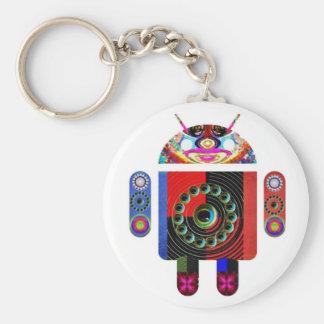 Androide del papá y del bebé - Art101 por Navin Llavero Redondo Tipo Pin