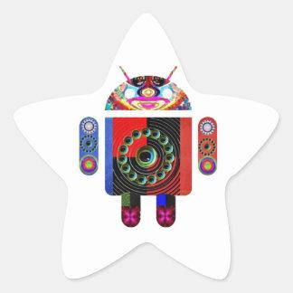 Androide del papá y del bebé - Art101 por Navin Pegatina En Forma De Estrella