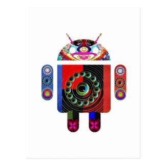Androide del papá y del bebé - Art101 por Navin Tarjetas Postales