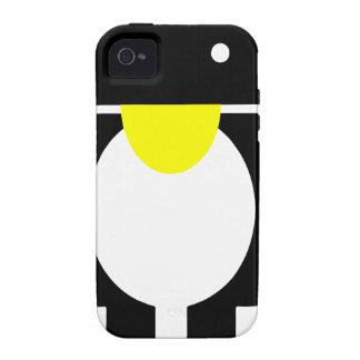 Androide del pingüino de Linux Tux iPhone 4/4S Fundas