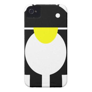Androide del pingüino de Linux Tux iPhone 4 Protectores