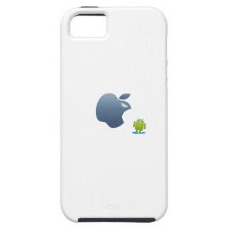 androide del rugido de la manzana iPhone 5 Case-Mate protector