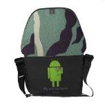 Androide en amor bolsas de mensajeria