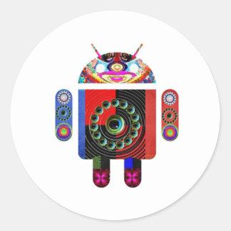 androide extranjero - Art101 por Navin Pegatina