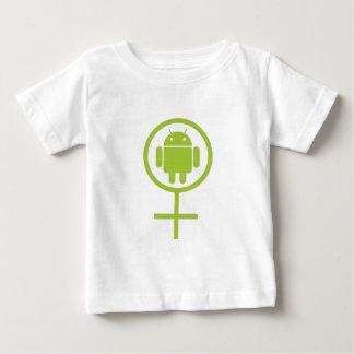 Androide femenino (muestra/símbolo) playera de bebé