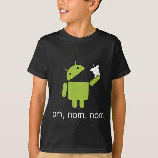 androide > manzana (camisa oscura) playera
