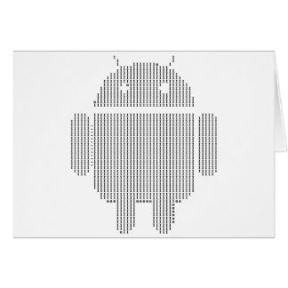 Androide---Negro del ASCII Tarjeta De Felicitación