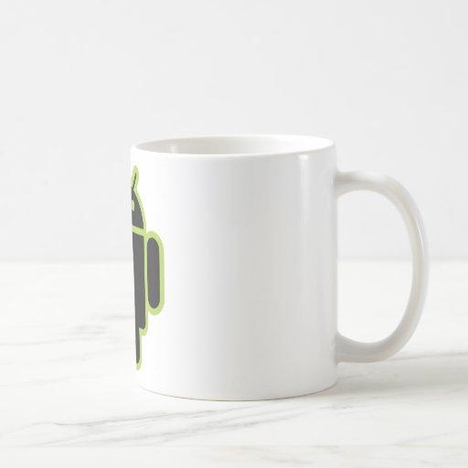 Androide oscuro taza de café