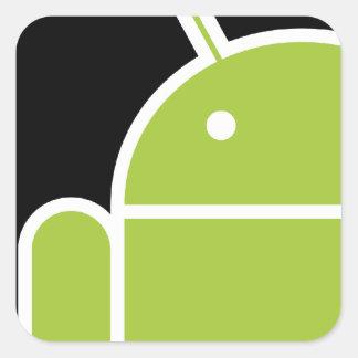 Androide Pegatina Cuadrada