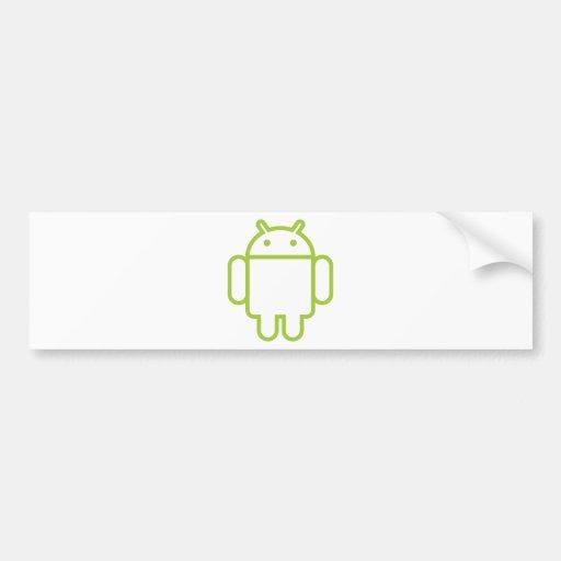 androide pegatina de parachoque