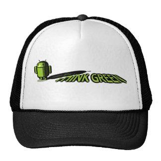 Androide - piense el verde gorras