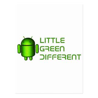 Androide - poco verde diferente tarjeta postal