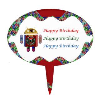 ANDROIDE por el cumpleaños de Navin HappyBirthday Decoración Para Tarta