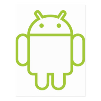 androide tarjeta postal