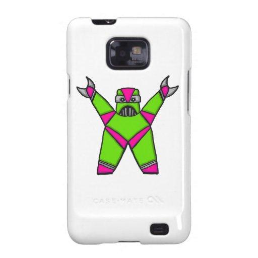 Androide verde y rosado de Samsung de la caja del  Samsung Galaxy SII Fundas