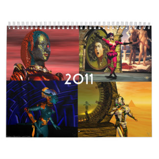ANDROIDES, CYBORGS de la ciencia ficción 2011 del Calendario