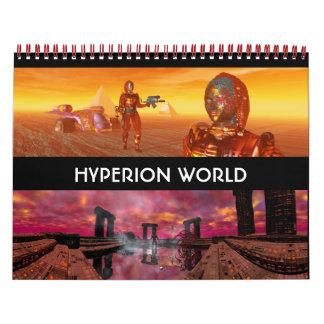 ANDROIDES, CYBORGS de la ciencia ficción 2016 del Calendarios