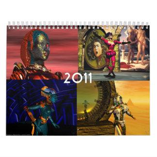ANDROIDES, CYBORGS de la ciencia ficción 2017 del Calendario