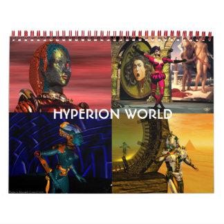 ANDROIDES, CYBORGS de la ciencia ficción 2017 del Calendario De Pared