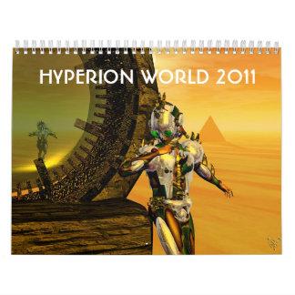 ANDROIDES, CYBORGS de la ciencia ficción 2017 del Calendarios