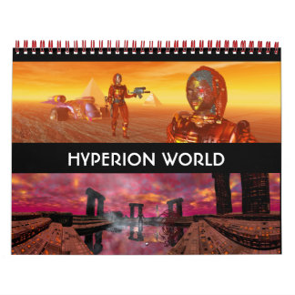 ANDROIDS ,CYBORGS FROM HYPERION WORLD 2016 Sci-Fi Calendar