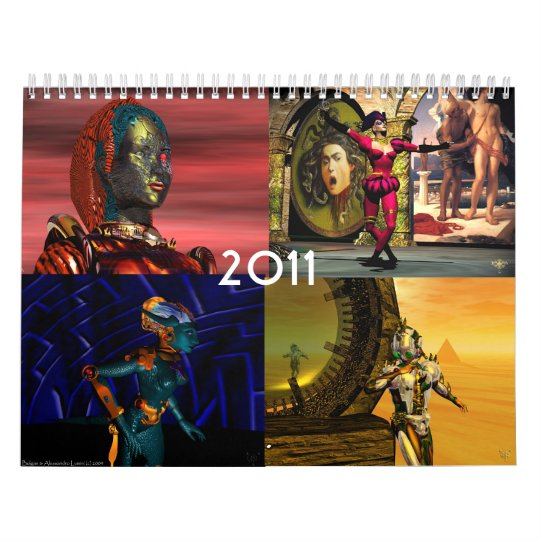 ANDROIDS ,CYBORGS FROM HYPERION WORLD 2017 Sci-Fi Calendar