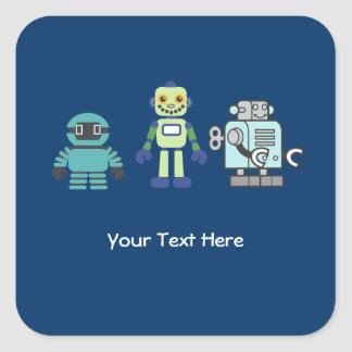 Androids & Robot Sticker Label